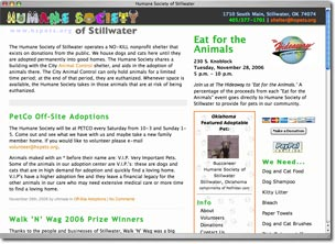 Humane Society Web Site